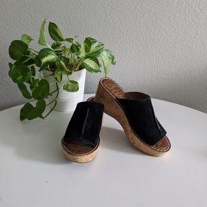 Sam Edelman Black Ranger Wedge Sandals